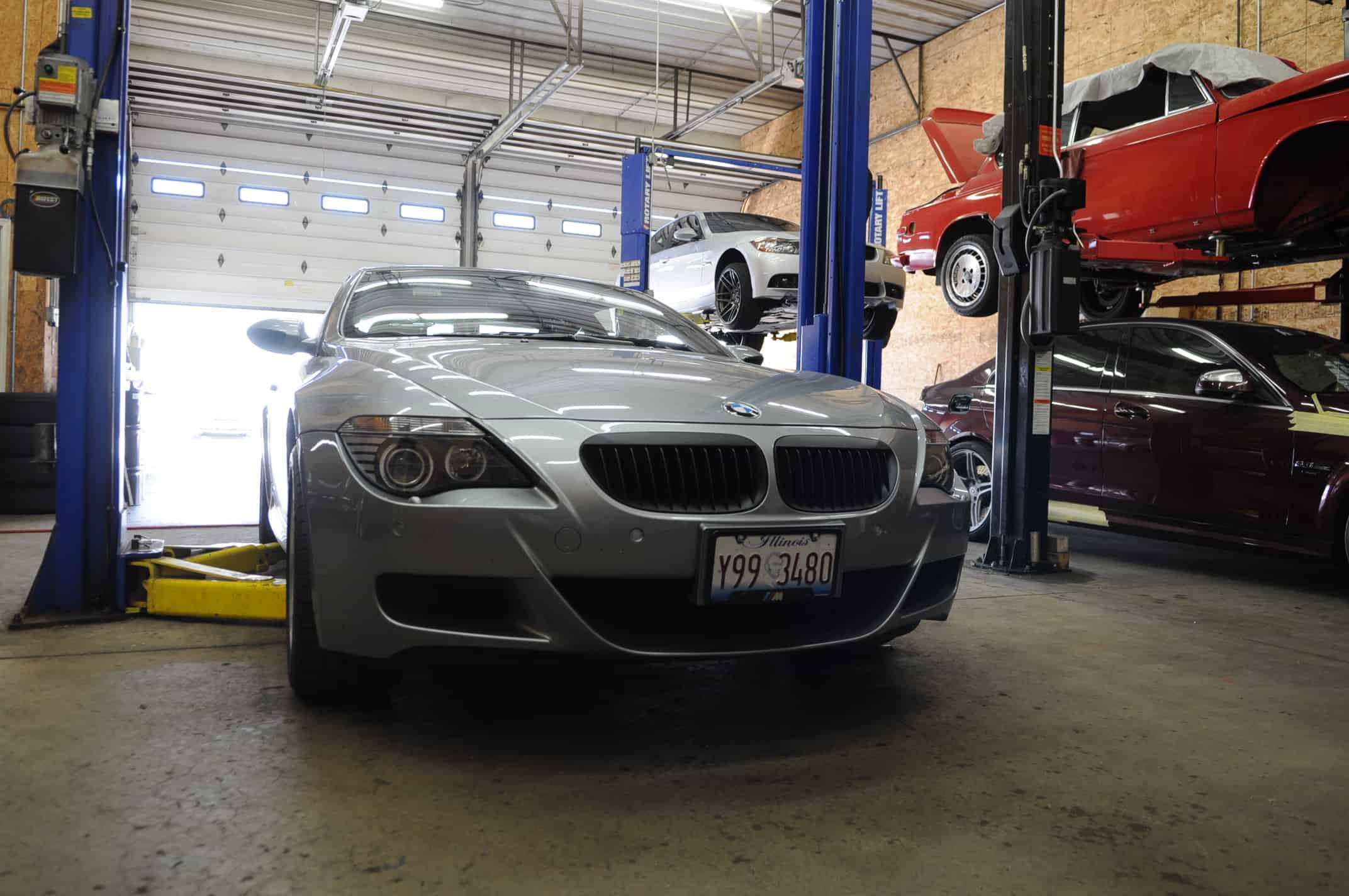 BMW M6 Carbon Fiber Lip Install Luxury European Service