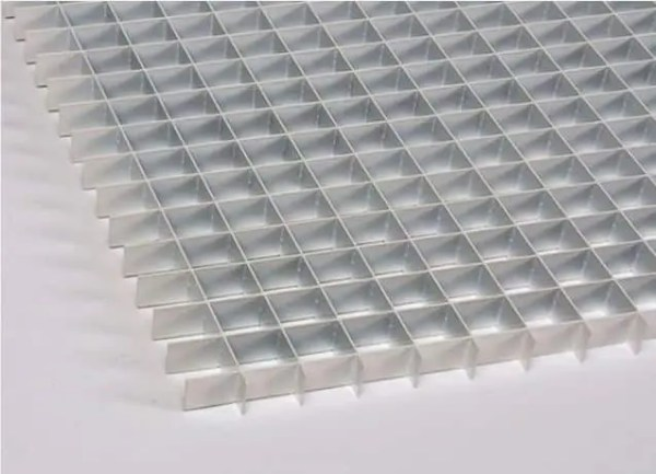 Aluminum mill finish egg crate mesh