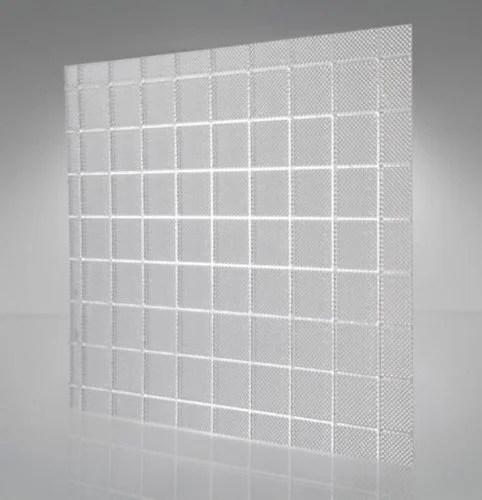 prismatic square light cover or diffuser for fluorescent broken or damaged