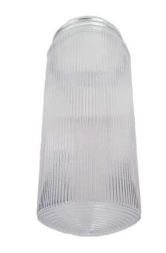 prismatic cylinder threaded globe jelly jar light cover diffuser fluorescent