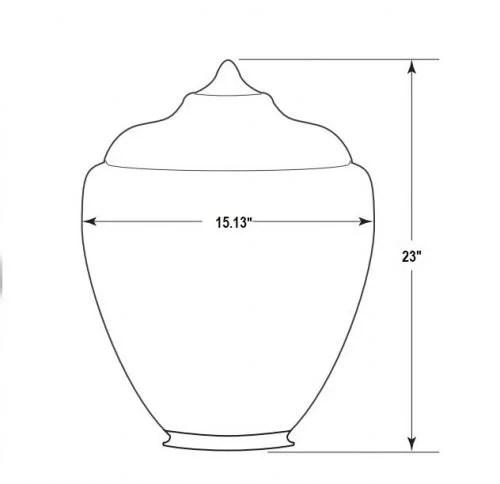 "25"" tall acorn globe street light diffuser cover broken or damaged"