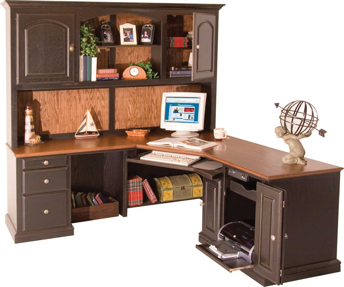 Small L Shaped Computer Desk With Hutch Ideas Home Inspirations