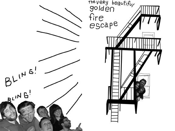 golden fire escape