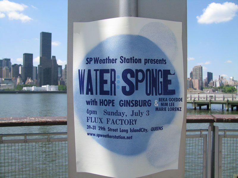 SP Weather Station Presents Water: Sponge