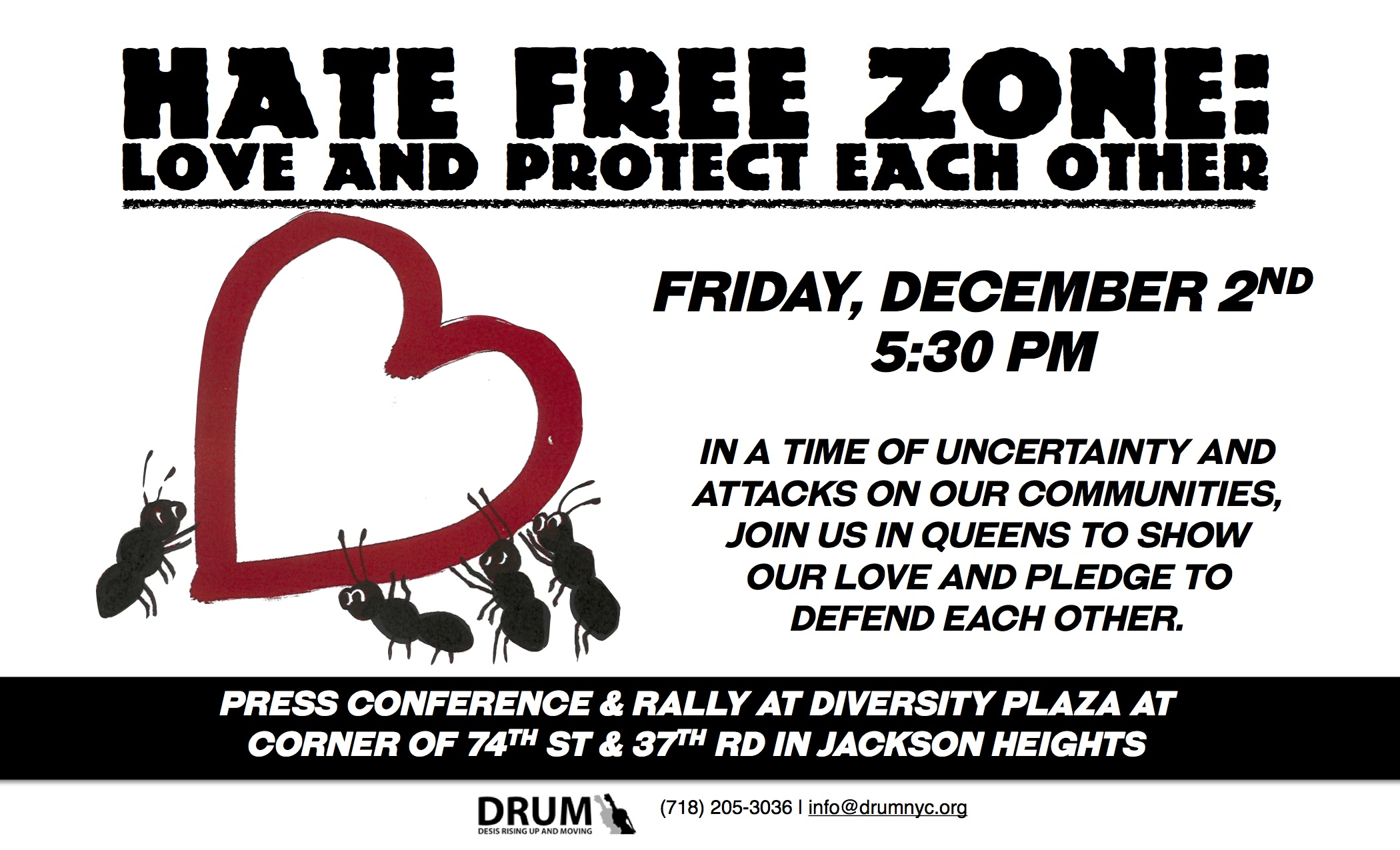 Declare Queens As A Hate Free Zone