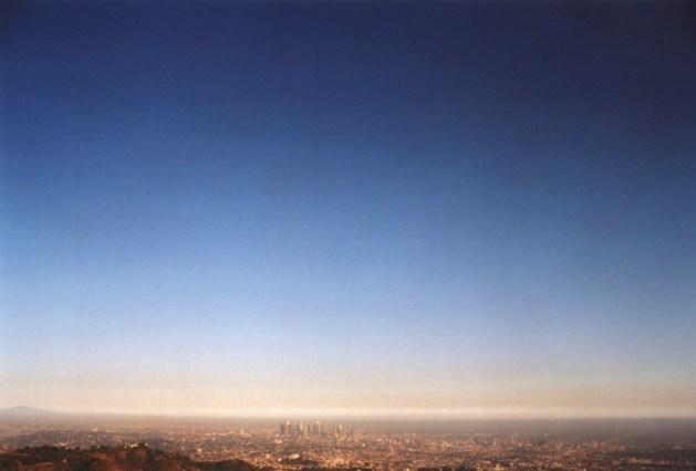 """""""Los Angeles Skyline"""", 1995, Hollywood, Ca, Landscape/Light studies series, C–print"""