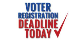 Voter Registration Deadline Today
