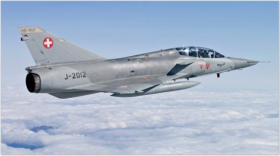 fly fighter jet mirage 3 switzerland