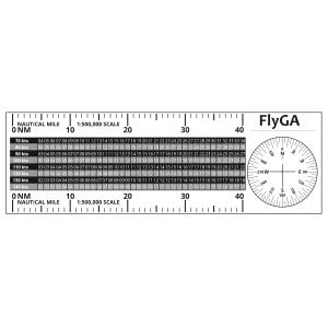 MR-1 Flight Diversion Ruler PPL(A) Plotter