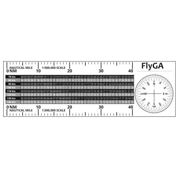 MR-1 Flight Diversion Ruler PPL(A) Plotter