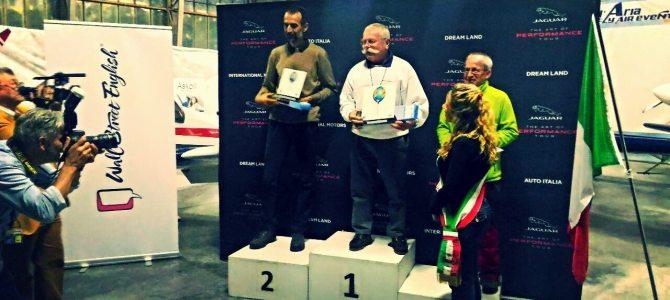 Festa dell'Aria 2016: i vincitori del Trofeo Aerostatico e del Campionato Italiano di Volo Acrobatico a Motore.