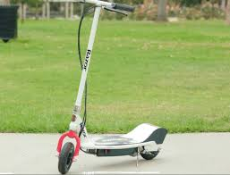 white and red scooter