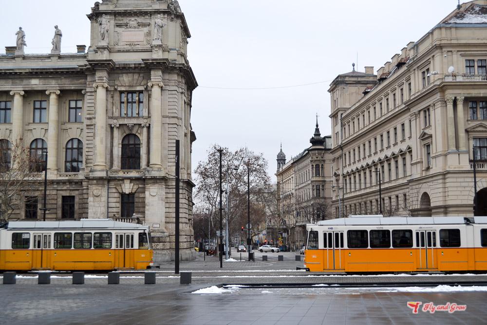 tranvías amarillos Budapest