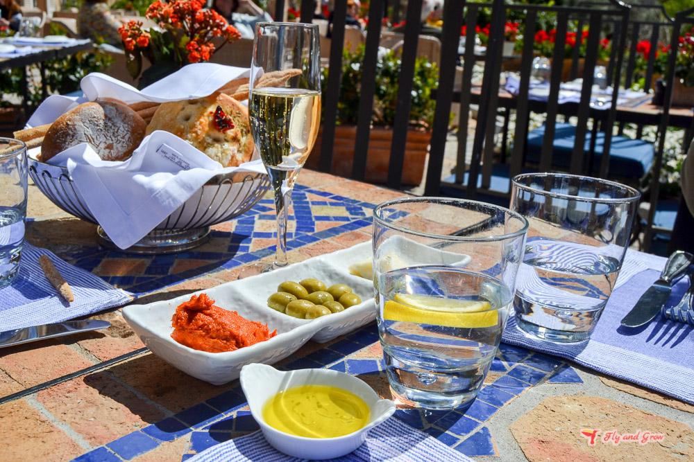 comida en el restaurante Miró, Belmond La Residencia