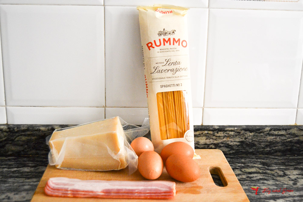 ingredientes receta de pasta a la cabonara
