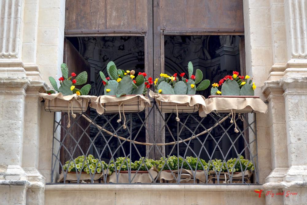calles decoradas de Sicilia