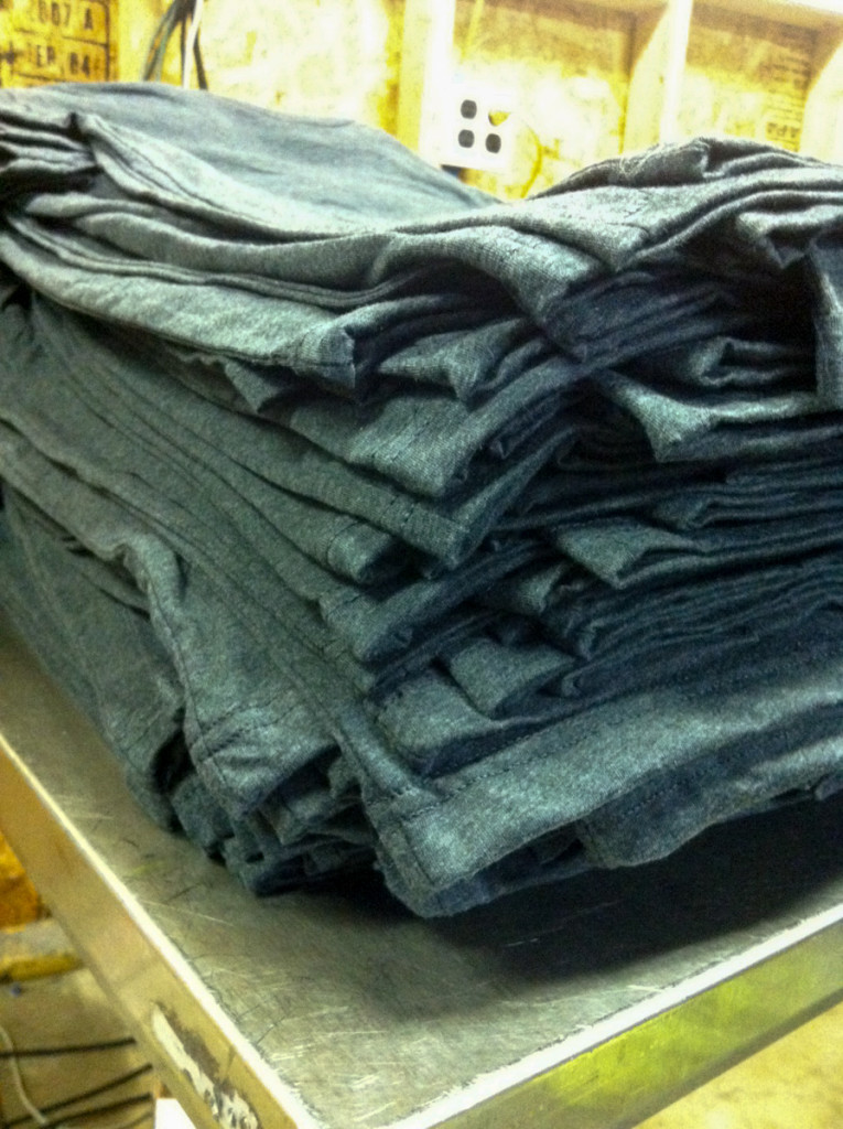 Stack of Shirts Ready to be Printed
