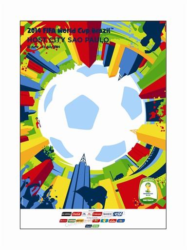 World Cup Poster Sao Paulo
