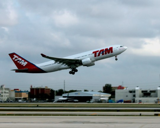 TAM departing for Brazil