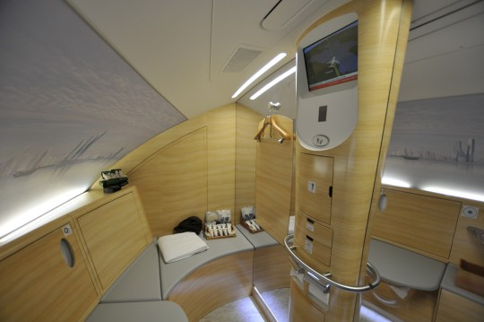 Inside the Emirates A380 shower spa. PYONKO OMEYAMA/Flickr