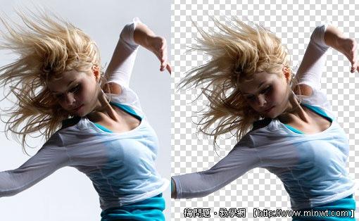 Photoshop 影像設計  - Photoshop 去背教學 - Alpha Channel 頭髮去背 - 金髮美女篇 - alumb