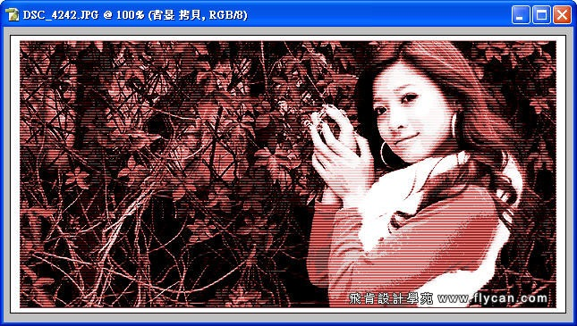 Photoshop 後製修圖  - Photoshop 教學 - 色調分離 - 復古風格、網線效果、網點效果 - flycan_0006_103