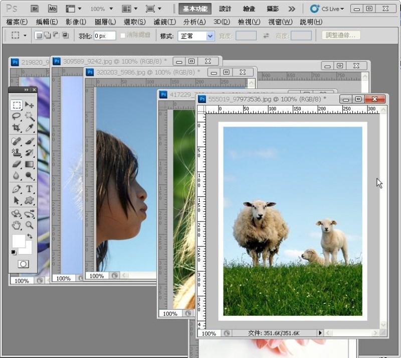 Photoshop 影像設計  - PHOTOSHOP 入門教學 - 圖片固定裁切與白邊 - SNAG0024