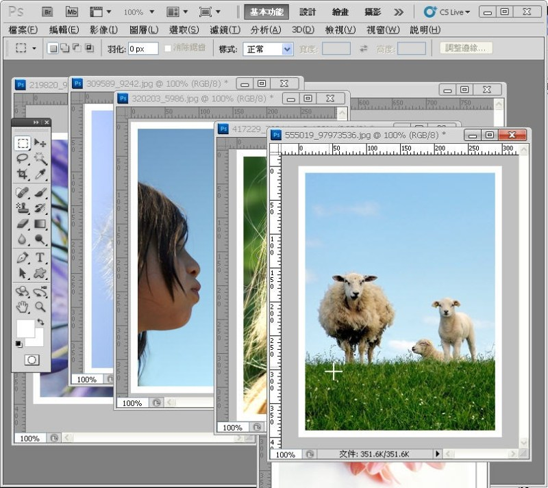 Photoshop 影像設計  - PHOTOSHOP 入門教學 - 圖片固定裁切與白邊 - SNAG0025