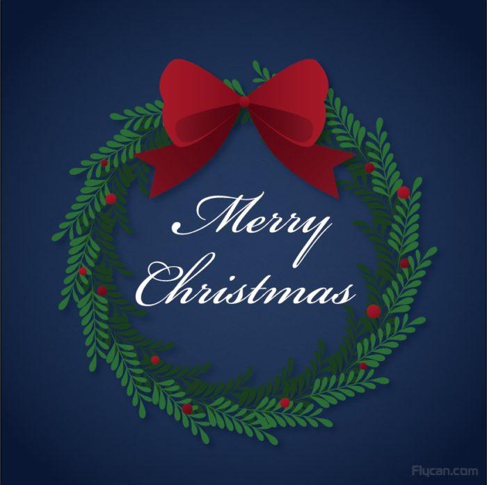 Free Resource 好康報報 Good Design 好站報報 Photoshop 影像設計  - 【Illustraror教學】圖樣筆刷 - 製作聖誕節花圈 - merry-christmas-e1576497741196