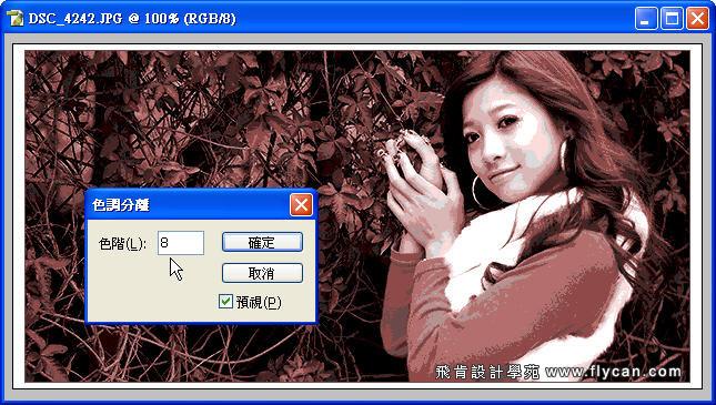 Photoshop 後製修圖  - Photoshop 教學 - 色調分離 - 復古風格、網線效果、網點效果 - flycan_0003_132