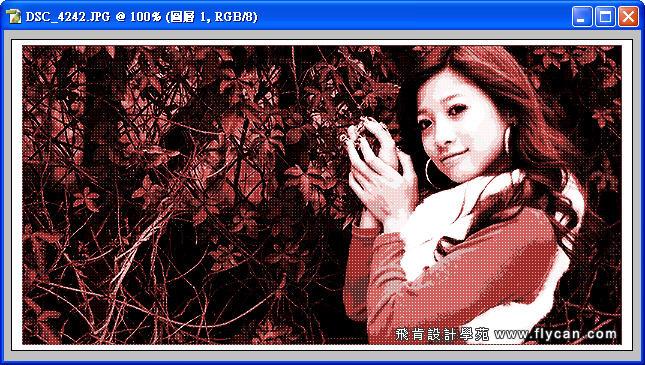 Photoshop 後製修圖  - Photoshop 教學 - 色調分離 - 復古風格、網線效果、網點效果 - flycan_0008_163