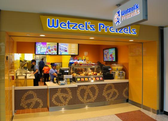 Wetzels Pretzels Denver International Airport