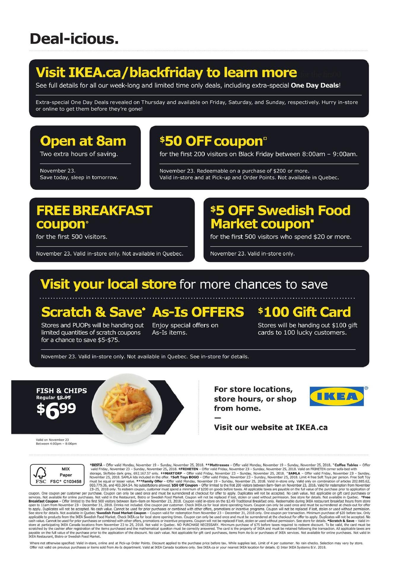 Ikea Black Friday Canada 2019 Sale Flyer