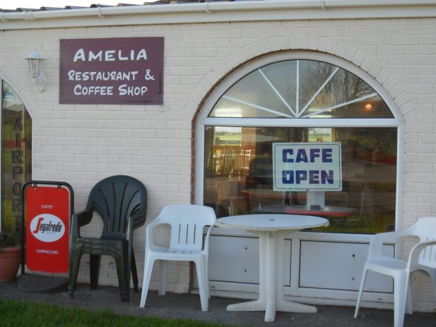 Entrance to the cafe, where you also book in/out