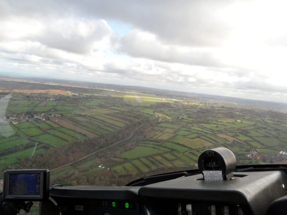 Turning final for Runway 10 at Cherbourg