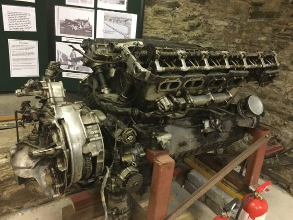 Merlin engine rescued from a peat bog, Castletown museum