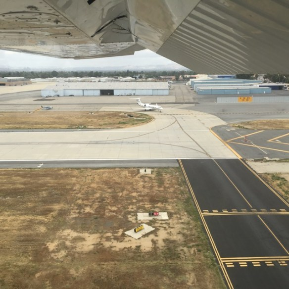 Landing 16L at Van Nuys with a Citation holding for 16R departure