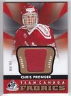 2012 13 UD SPGU CHRIS PRONGER JERSEY GOLD 44 44 Fabric SP Game Used Team Canada