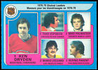 1979 80 OPC O PEE CHEE 8 LEADERS NM KEN DRYDEN BERNIE PARENT TONY ESPOSITO