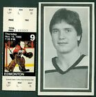 1985 Pelle Lindbergh Philadelphia Flyers Rare Ticket Stub  Memorial Photo Card
