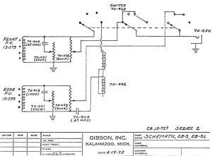 Gibson EB3 circuit schematics (series 2) >> FlyGuitars