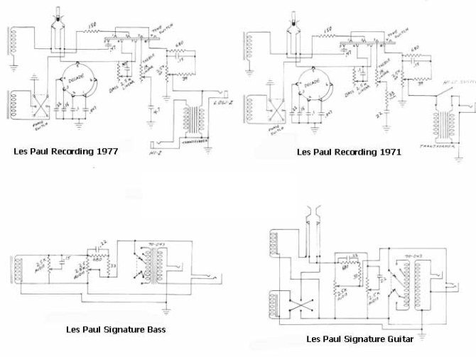 gibson bass guitar wiring diagrams