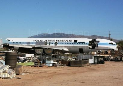 Pan Am 707 in the boneyard.