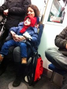 poussette métro
