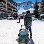 Une valise Déglingos à la neige