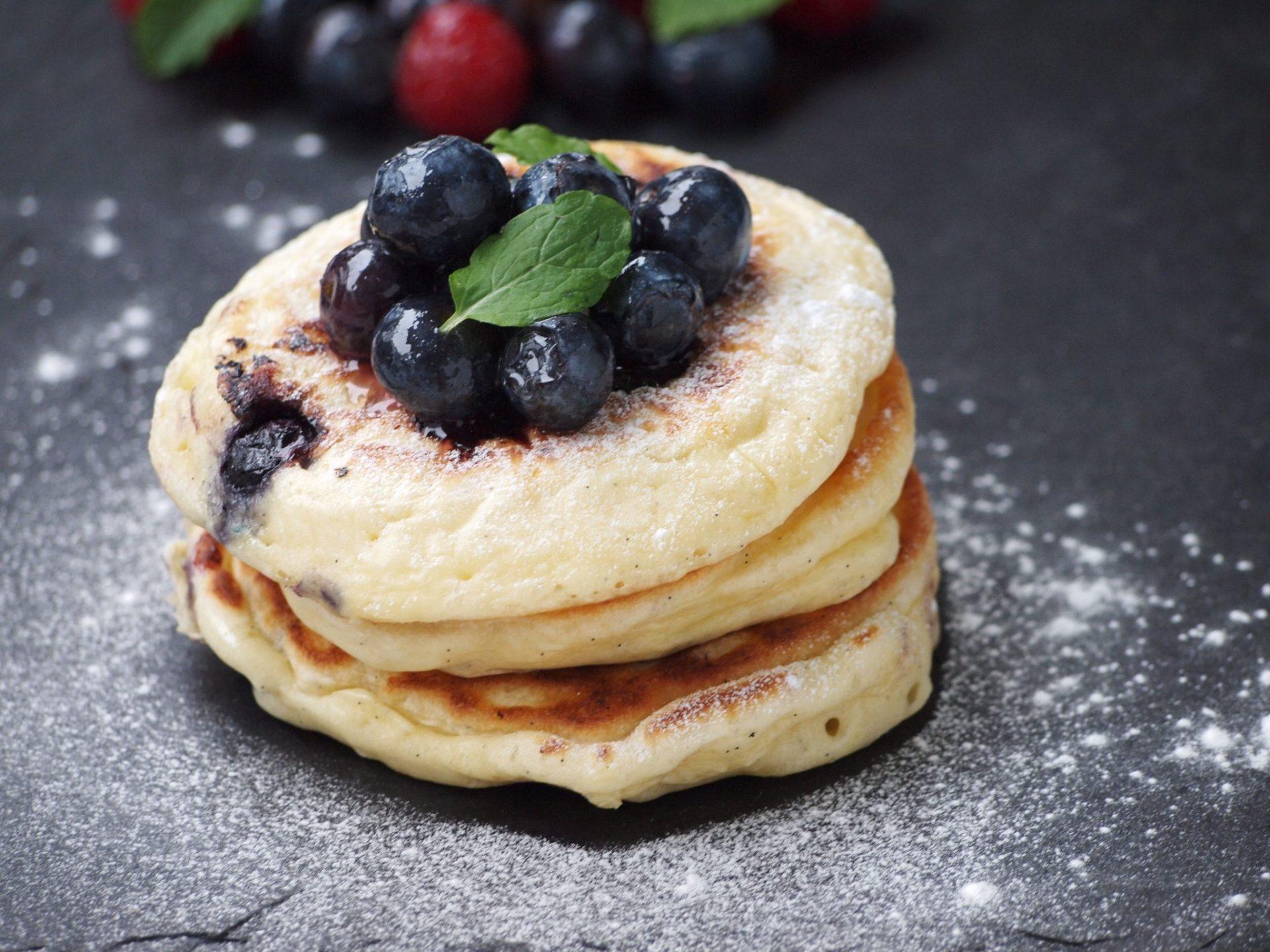 Recept Blueberry pancakes amerikaanse pannenkoeken
