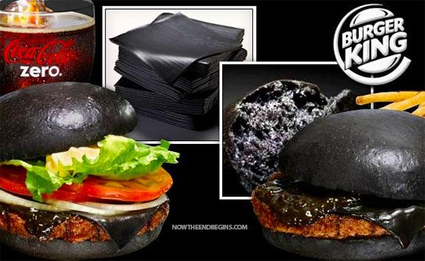 Zwarte hamburgers