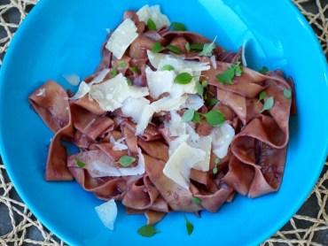 Snelle Luie Rode wijn pasta Flying Foodie Foodblog