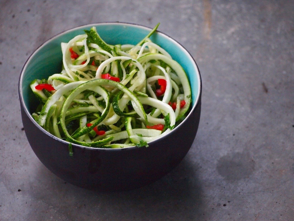 Recept pittige courgette salade