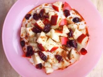 Gezond ontbijten met kwark appel kaneel